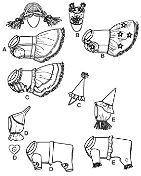 amazon com simplicity wizard of oz costume sewing pattern 2548 dog