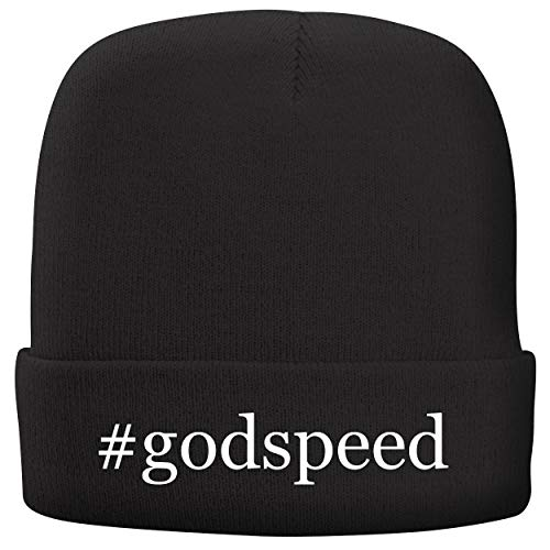 BH Cool Designs #Godspeed - Adult Hashtag Comfortable Fleece Lined Beanie, Black