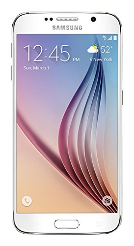 Samsung Galaxy S6 Unlocked SM-G920A GSM Smartphone, White Pearl, 32GB