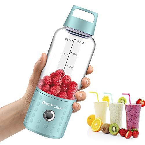 Portable Blender,Smoothie Blender USB Juicer Cup, 16oz Fruit Mixing Machine with 4000mAh Rechargeable Batteries, Small Blender, Perfect Blender for Personal Use