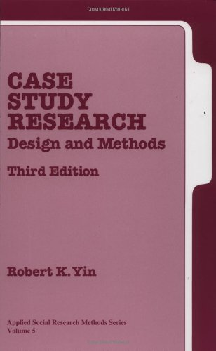 Case Study Research  Amazon ca  Robert Yin  Books ResearchGate