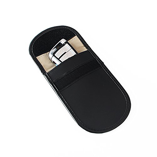 Key Fob Protector Device Shielding Pu Leather Cell Phone Anti-tracking Anti-spying GPS Rfid Signal Blocker Pouch Car Key Remotes Handset Function Bag Black Signal Shielding Pouch Bag