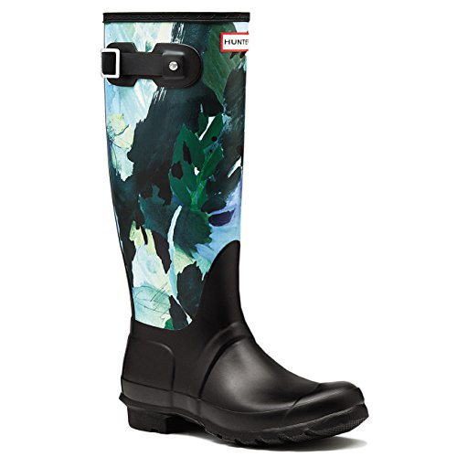 Hunter Womens Original Tall Botanical Muck Yard Snow Winter Rain Boots - Black - 5 by Hunter