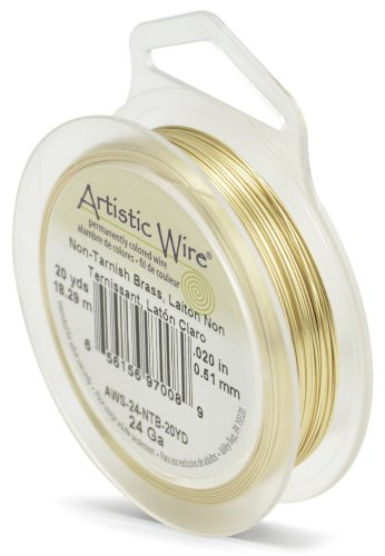 Artistic Wire 24-Gauge Non-Tarnish Brass Wire, 20-Yards (Non Tarnish Brass)