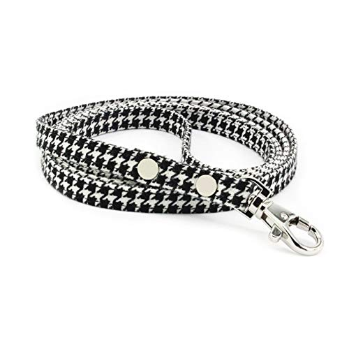(PetFavorites Houndstooth Poly Dog Leash, Closely Match Houndstooth Dog Collars, 4 Foot Length)