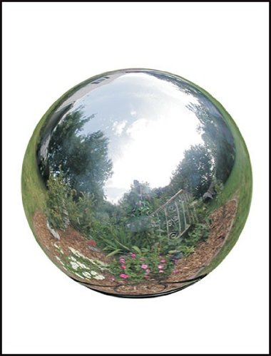 Rome 710-S Silver Stainless Steel Gazing Globe, Polished Stainless Steel, 10-Inch ()