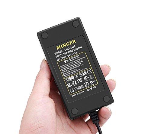 Minger Power Supply 24v 6a Power Adapter Transformer For