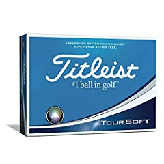 Through technology and process innovations, Titleist has developed the new Tour soft golf ball. It delivers Category leading soft feel and commanding distance. To develop a golf ball with such responsive feel and very fast speed, our engineer...