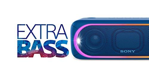 416hm4nggEL - Sony SRSXB30/BLUE Portable Wireless Speaker with Bluetooth, Blue