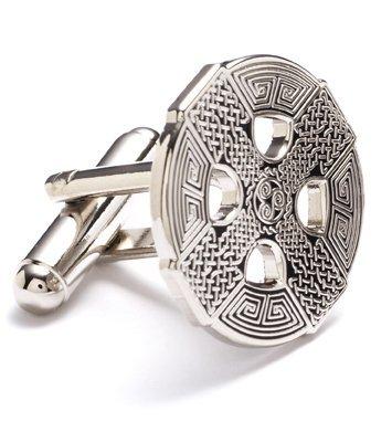 Religious Cross Cufflinks (Silver Celtic Cross Cufflinks Cuff)