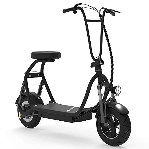 SKRT Electric Bicycle/E-Bike/Scooter 350W 48V 18.6 Miles Long-Range Battery Foldable Easy Carry Portable Design, Adult Electric Scooter Up to 18 MPH Commuter Scooter (Black)