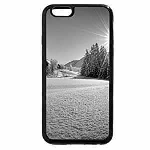 iPhone 6S Case, iPhone 6 Case (Black & White) - Winter view