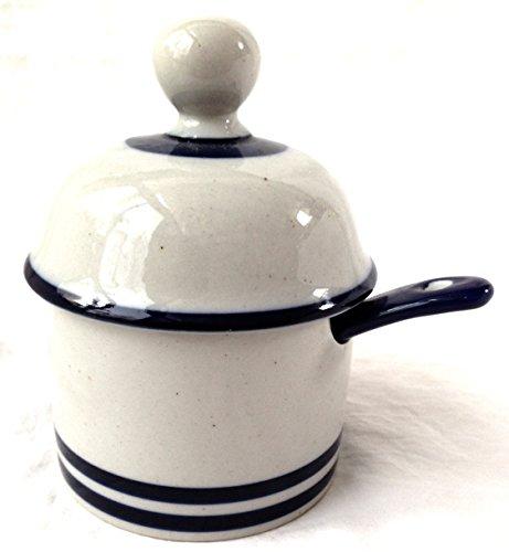 Dansk Blue Mist Jam Jelly Jar & Lid with Spoon