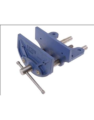 Irwin V175B Tornillo de banco para madera (175 mm), Azul,
