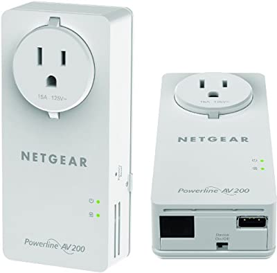 NETGEAR Powerline 200Mbps 2-Port PassThru Adapter - Starter Kit (XAUB2511)