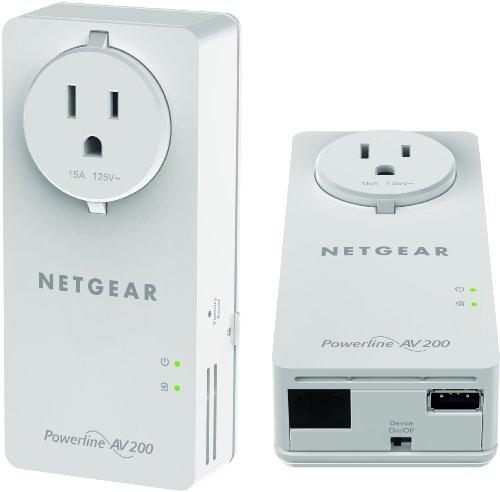 NETGEAR Powerline 200Mbps PassThru Adapter