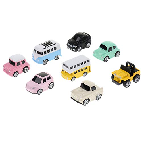 Fenteer 全2種類 ベビー 車玩具 ミニカー プルバック車 ボーイズ 玩具 かわいい - 1