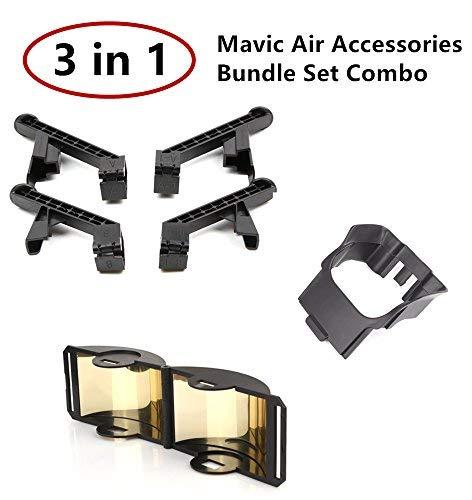 Sky Digital DJI Mavic Air Necessary Accessories Bundle Set Combo 3 PACK Landing Gear Leg Extensions,Controller Signal Booster RangeExtender,Lens Gimbal Sunshade