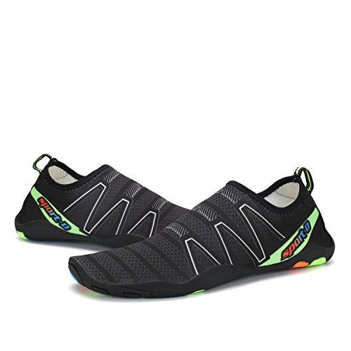 Aqua Water Beach Barefoot Shoes Dry Shoes Quick Black Surf Women Pool Swim Voovix Men R0xSRa