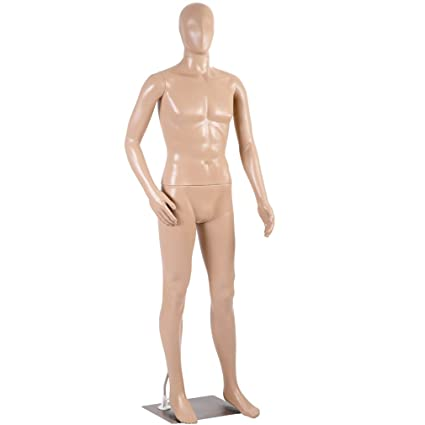 Mannequin Manikin Dress Form Adjustable 73 Inch Mannequin Display Stand  Dress Model Full Male Body Realistic