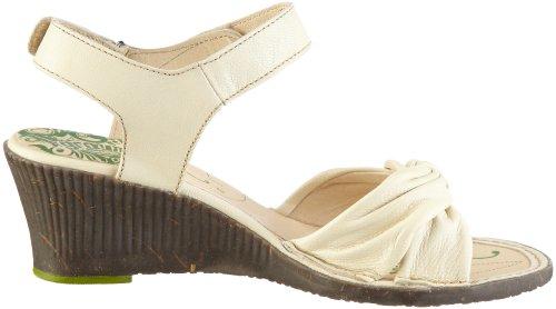 Groundhog Women's Gaspe Wedge Sandal Off White OIQSW