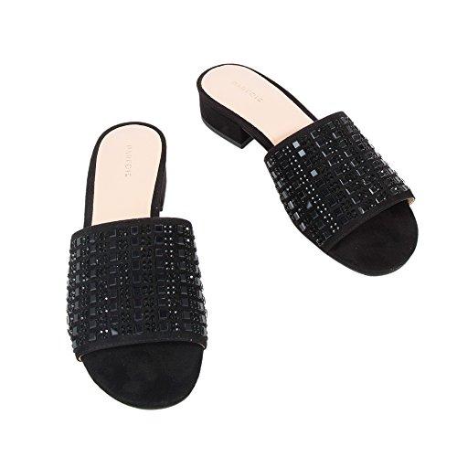 Parfois Studs Mules Sandals | Online Exclusive - Women Black ZEbCR