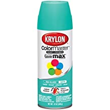 Krylon 1000A-53572 Colormaster Indoor/Outdoor Aerosol Paint Satin Sea Glass, 12 oz