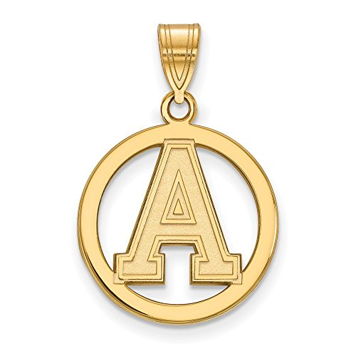 Roy Rose Jewelry Sterling Silver with 14K Yellow Gold-plated LogoArt U.S. Military Academy Small Pendant in Circle by Roy Rose Jewelry