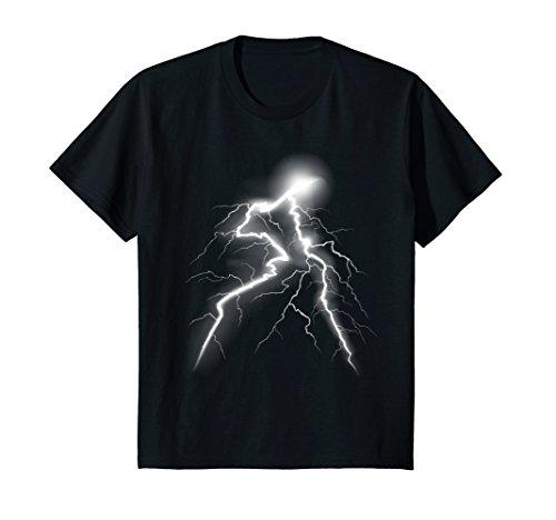 Kids LIGHTNING T-shirt Thunder Lightning Bolt Storm Strikes Glow 6 (Strike Flash)
