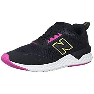New Balance Women's Fresh Foam 515 Sport V2 Sneaker, Black/Carnival/Sulphur Yellow, 5 M US