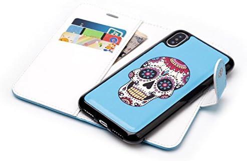 iPhone6 & iPhone6S 青 じゅんいろ 革のサック TPU 多機能 二合一超薄 超軽量 高质感 耐冲击 携帯を保護する 収納しやすい 潮流 2019 最新のデザイン