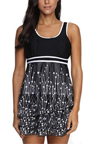 1cbe24ebb7529 YAMENUSA Swimsuits for Women Plus Size Two Piece Swimwear Tummy Control  Tankini Bathing Suits at Amazon Women's Clothing store: