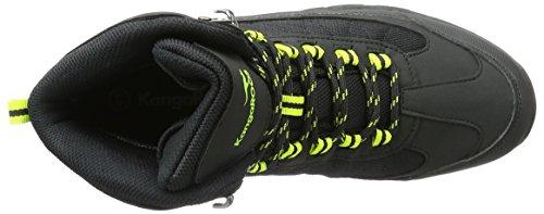 KangaROOS K-trekking 3008m Ii - Zapatos Hombre Schwarz (Black/Lime)