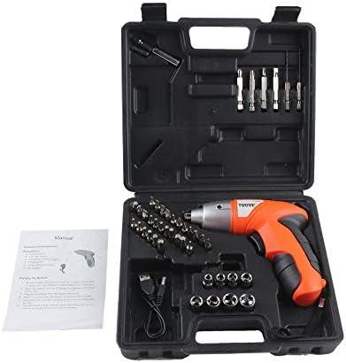 Recargable profesional Potente inalámbrico de 4.8V Taladro de pistola eléctrico Destornillador eléctrico Herramientas eléctricas ultra domésticas - Naranja y negro