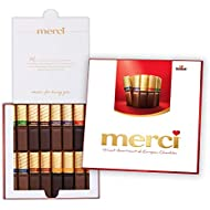 MERCI Finest Assortment of Eight European Chocolates, 7 Ounce Box   Chocolate Gift Box for Holiday Gifts, Teacher Gifts, Gifts for Mom, Gifts for Dad, Thank You Gifts or Personalized Gifts