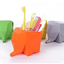 KAifaj Candy Color Elephant Shaped Toothbrush Holder(Random Color)