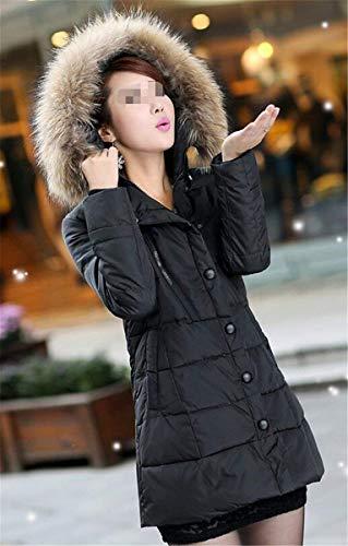 Fourrure Grande Capuchon Manteau Doudoune Hiver Femme avec Taille Tx0Oqxv8wA