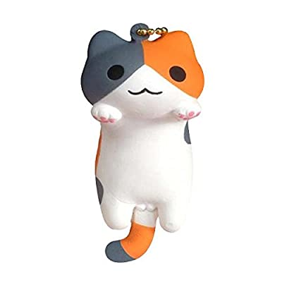 Niconico Nekomura Cat Super Soft Squishy Toy [Japanese Famous Characters] (Mike Cat, Gray & Brown, 3.5 Inch) [Easter Basket Stuffers, Party Favors, Stress Relief Toys for Kids]: Electronics