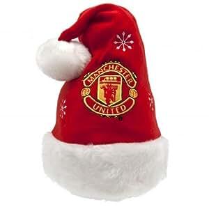 Manchester United F.C.–Papá Noel Hat- Papá Noel Hat- talla única de todo con un columpio tag- fútbol oficial mercancía