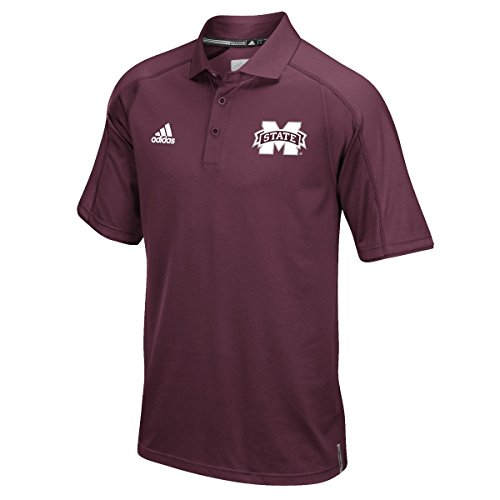 adidas NCAA Mississippi State Bulldogs Men's Sideline Polo, Medium, (Mississippi State Golf Gear)