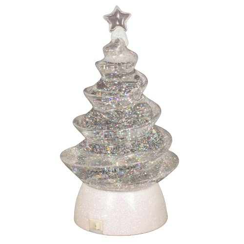 8″ LED Light Snow Swirl Christmas Tree