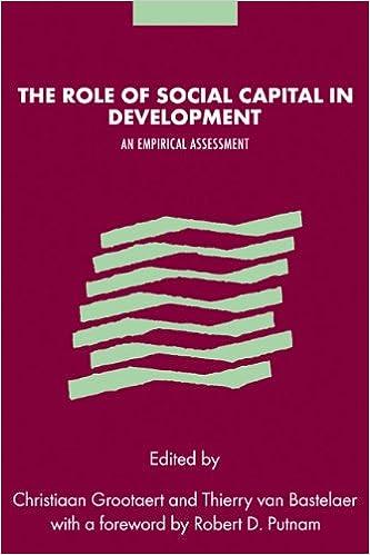 Role Social Capital in Development: An Empirical Assessment