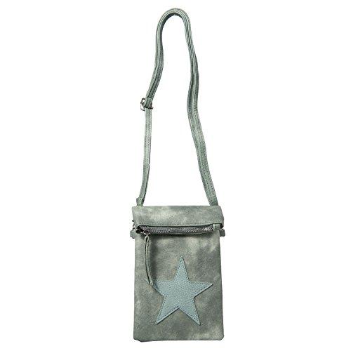 Clayre & Eef Tasche Schultertasche 15*27 cm Grün Polyurethan JZBG0096GR