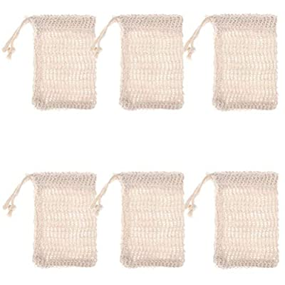 """SUSHAFEN 6 Pcs Exfoliating Natural Sisal Soap Saver Bag Soap Pouch,5.5"""" 3.5"""" from SUSHAFEN"""