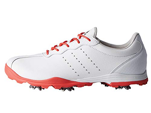 adidas Women's W Adipure DC Golf Shoe, FTWR White/Real Coral/Silver met, 7.5 Medium US