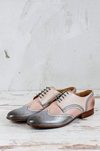 Beige Femme 020 MELVIN MADE pour Chaussures MH16 à MH de Lacets Ville HAND HAMILTON SHOES amp; OF CLASS Beige zaHqaxU
