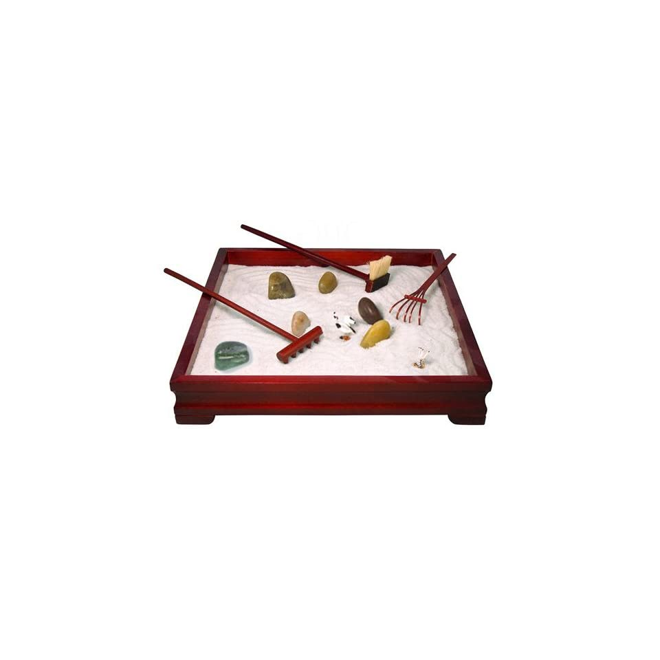 Relaxation Products Deluxe Wooden Zen Meditation Garden *Great Gift Set for Friends, Family, Office, etc*