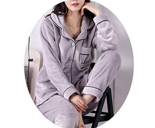 Corallo Autunno Donna Inverno Velluto Pi E Pigiama Ispessimento Pajamas 6YwqAx1