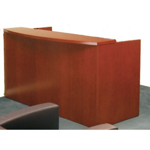 Mira Reception Desk Medium Cherry Finish