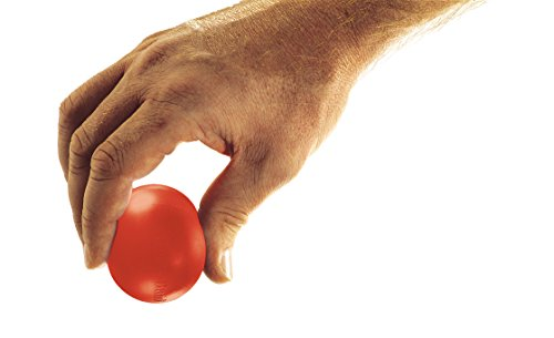 TheraBand Hand Exerciser, Stress Ball for Hand, Wrist, Finger, Forearm, Grip Strengthening & Therapy, Squeeze Ball to Increase Hand Flexibility & Relieve Joint Pain, X-Large Red, Soft, - Trainer Band Thera Hand